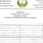 阿联酋无罪申请表